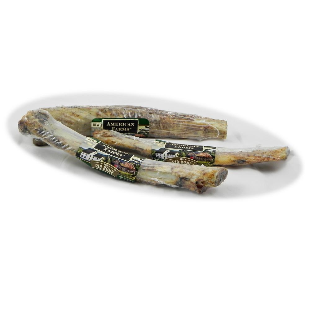 American Farms Beef Rib Bone Natural Smoked Dog Treat 6 Pack