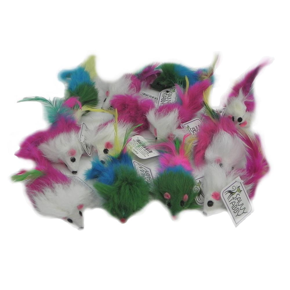 Savy Tabby Snuggle Mouse Cat Toy 12 Pack