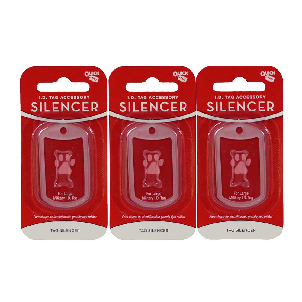 Dog Tag Silencer Military 3 pack