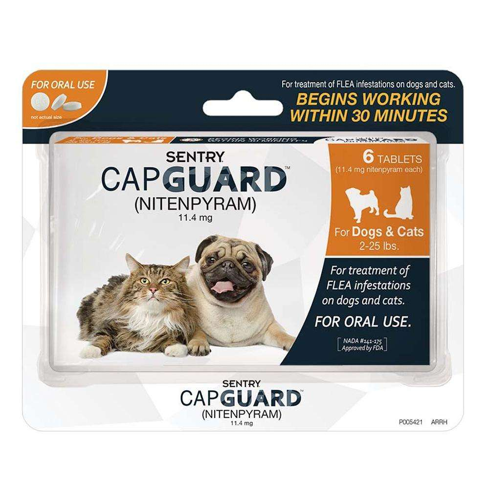 Capguard Flea Treatment for Dogs and Cats Under 25Lbs.