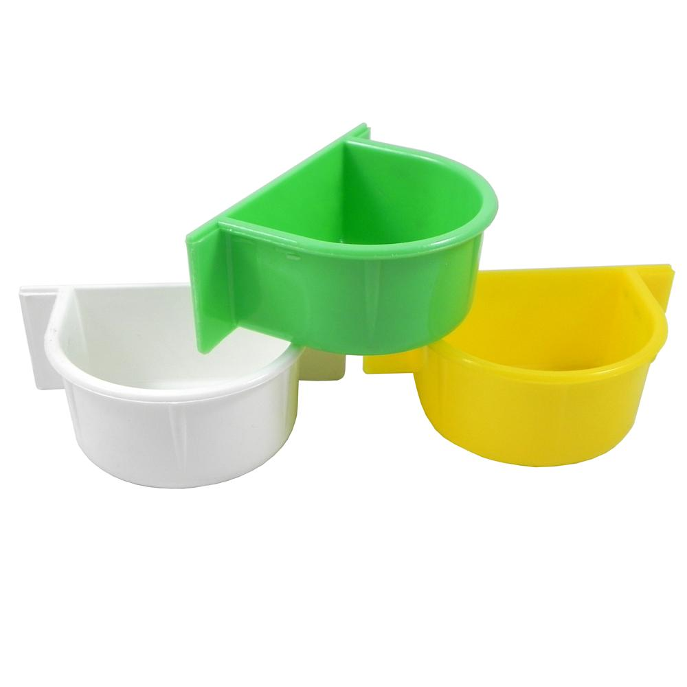 Parrot Food and Water Cup Plastic 3 pack