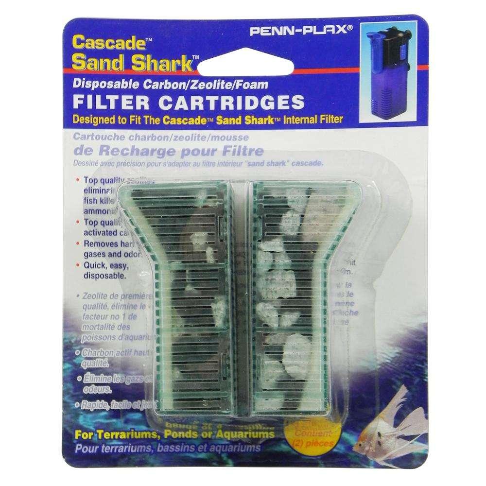 Penn Plax Sand Shark Aquarium Filter Crbn/Floss Crtridge 6pk