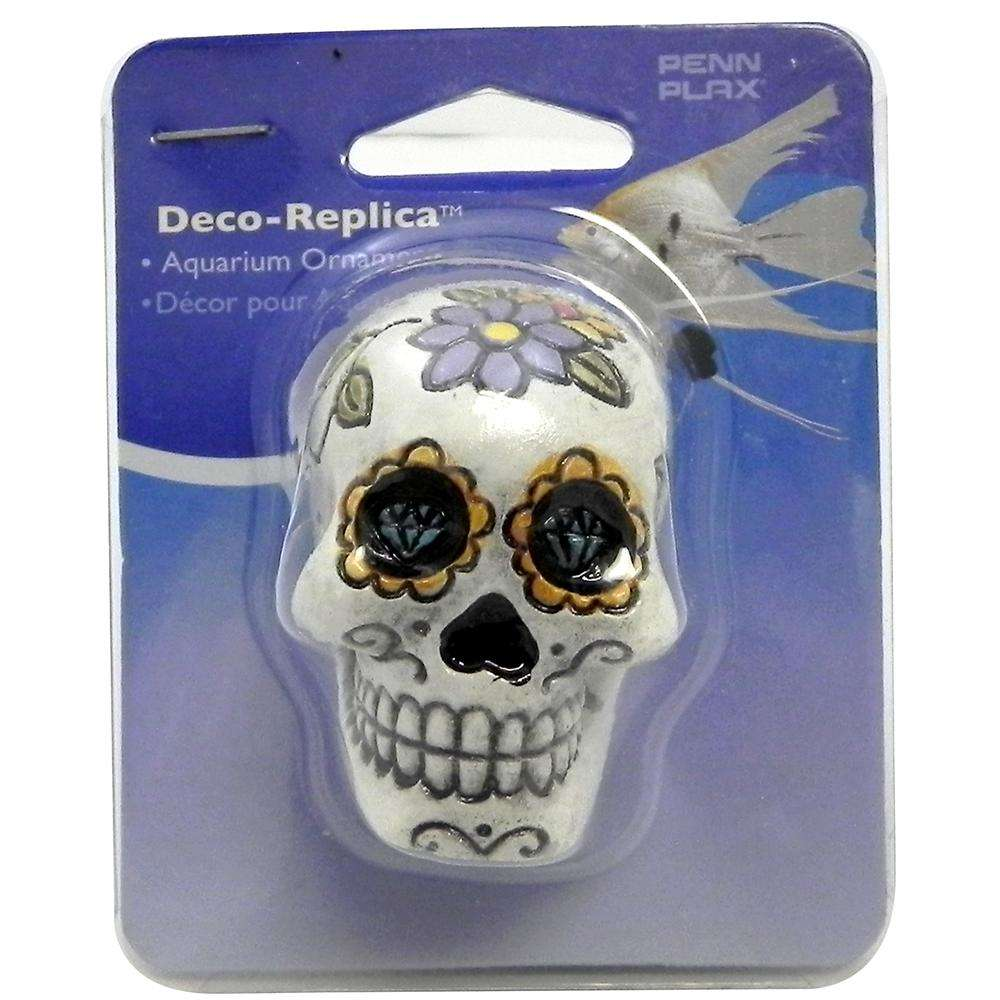 Sugar Skull Aquarium Ornament White