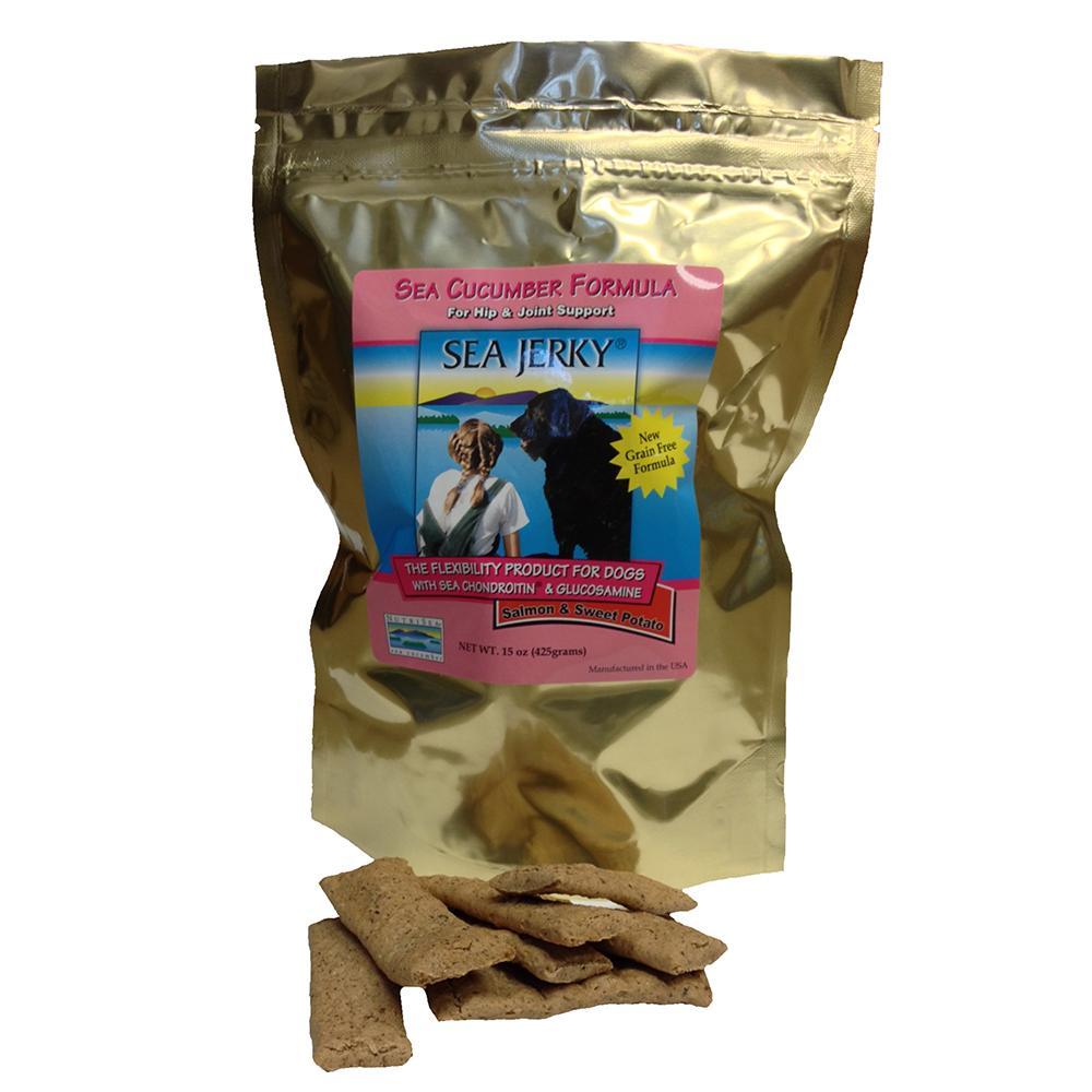 NutriSea Jerky Salmon and Sweet Potato 15 oz for Dogs