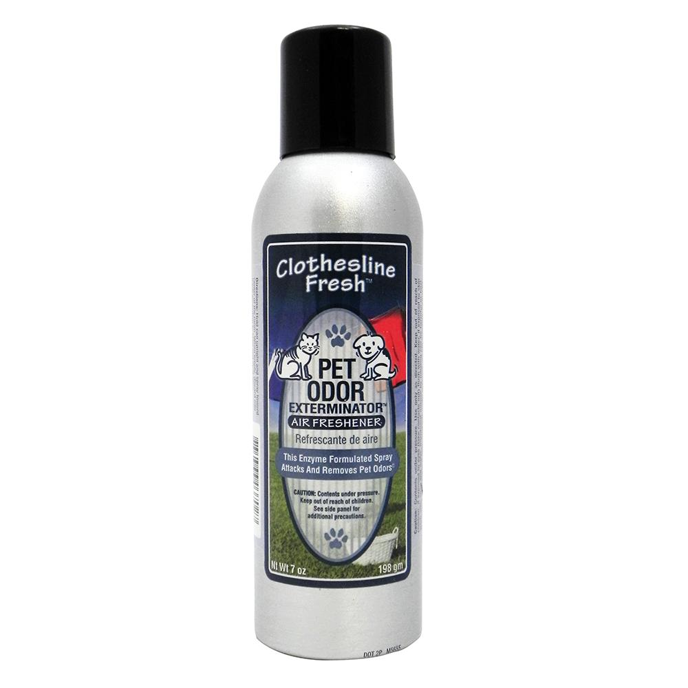 Pet Odor Eliminator Air Freshener Clothesline Fresh 7oz.