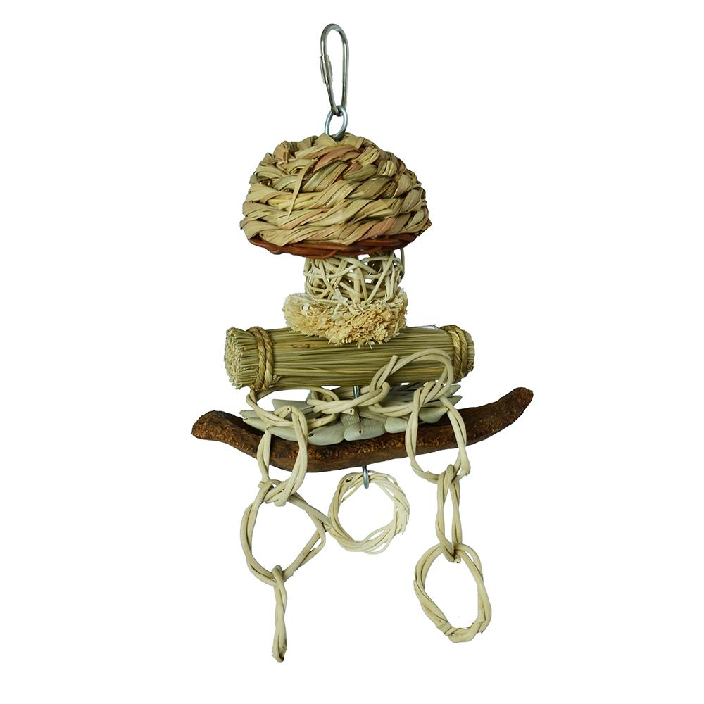 Super Bird Tiki Boat Natural Bird Toy