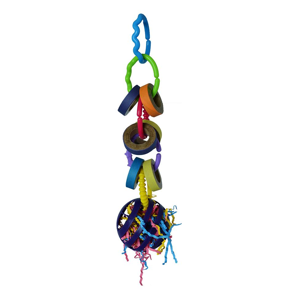 Super Bird Fiesta Foraging Ball Bird Toy for Larger Birds