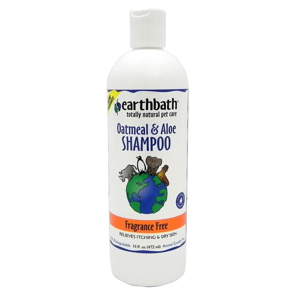 Earthbath Pet Shampoo Oatmeal and Aloe Fragrance Free Pint