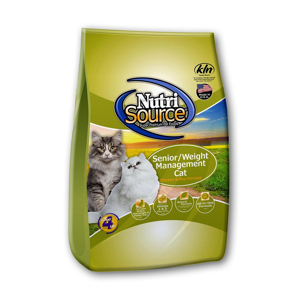 NutriSource Senior/Weight Management Cat Food 6.6Lb.