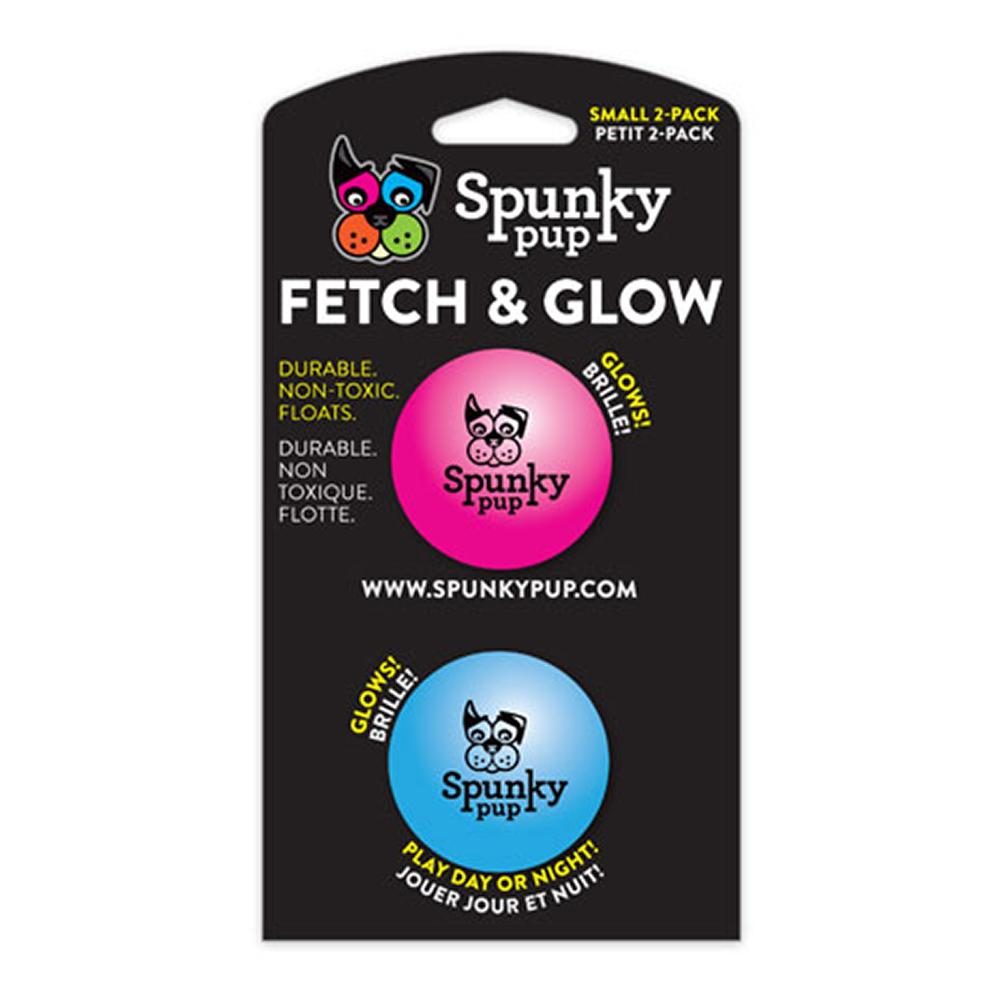 Spunky Pup Fetch and Glow Dog Ball Small Dog Toy