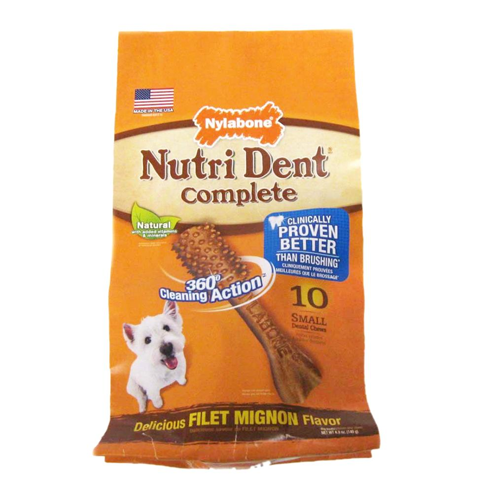 Nutrident Edible Dental Dog Chews Small 10 ct