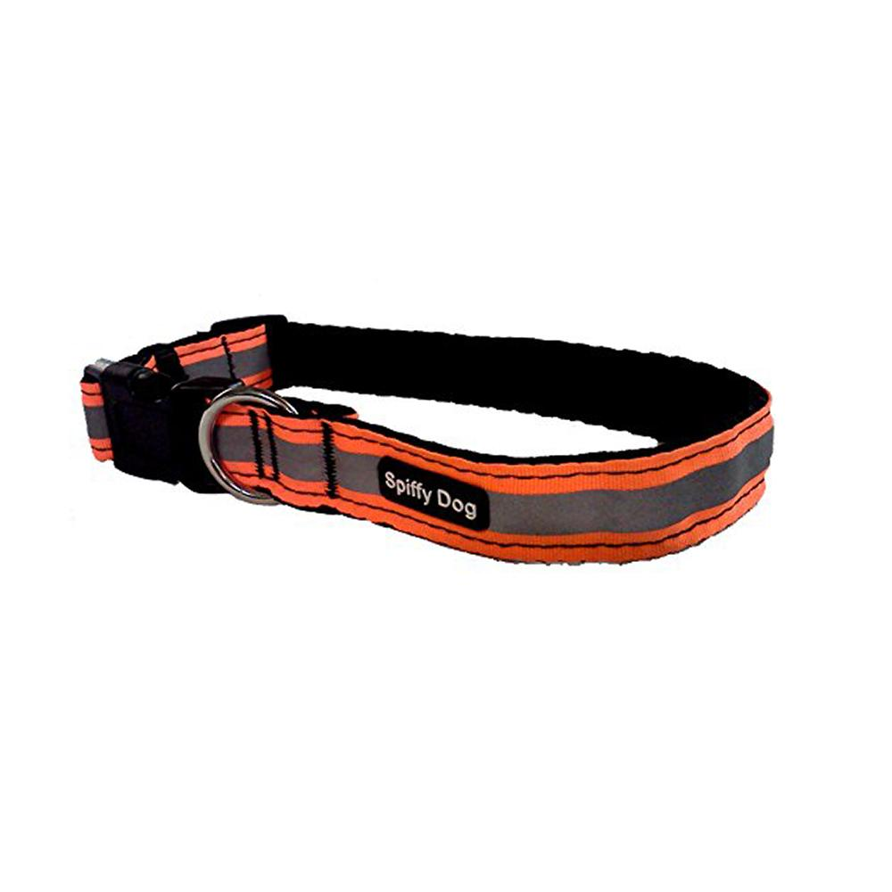 Spiffy Dog Large Orange Reflective Air Collar for Dogs
