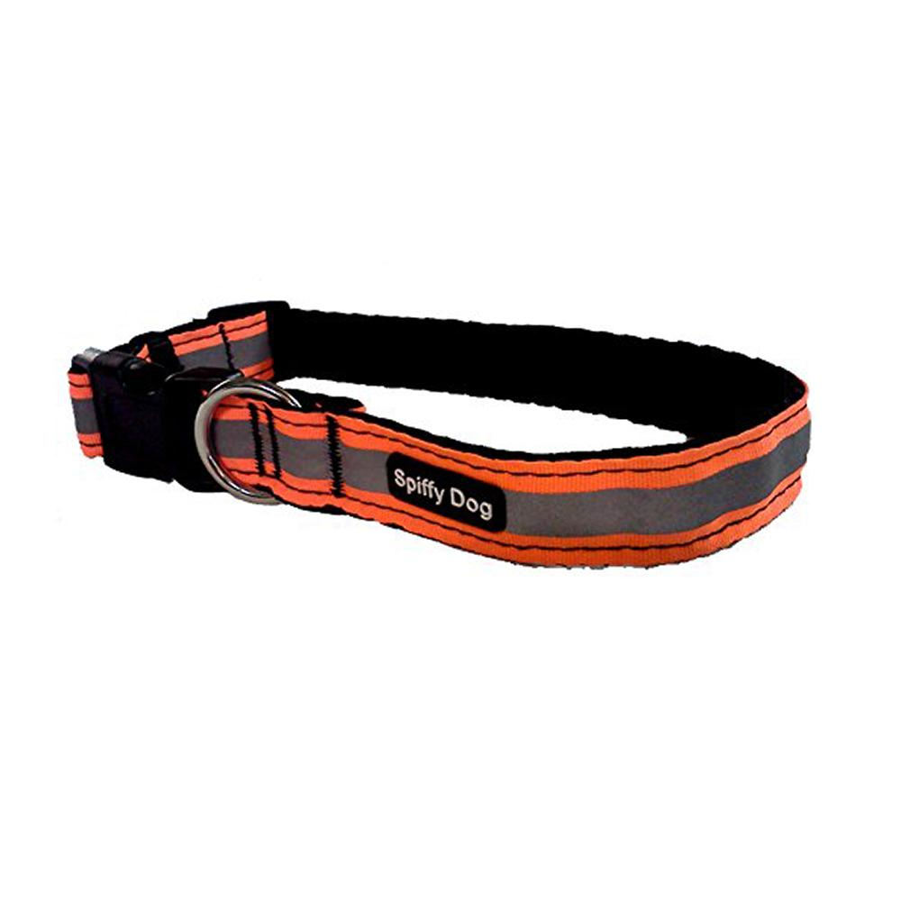 Spiffy Dog Medium Orange Reflective Air Collar for Dogs