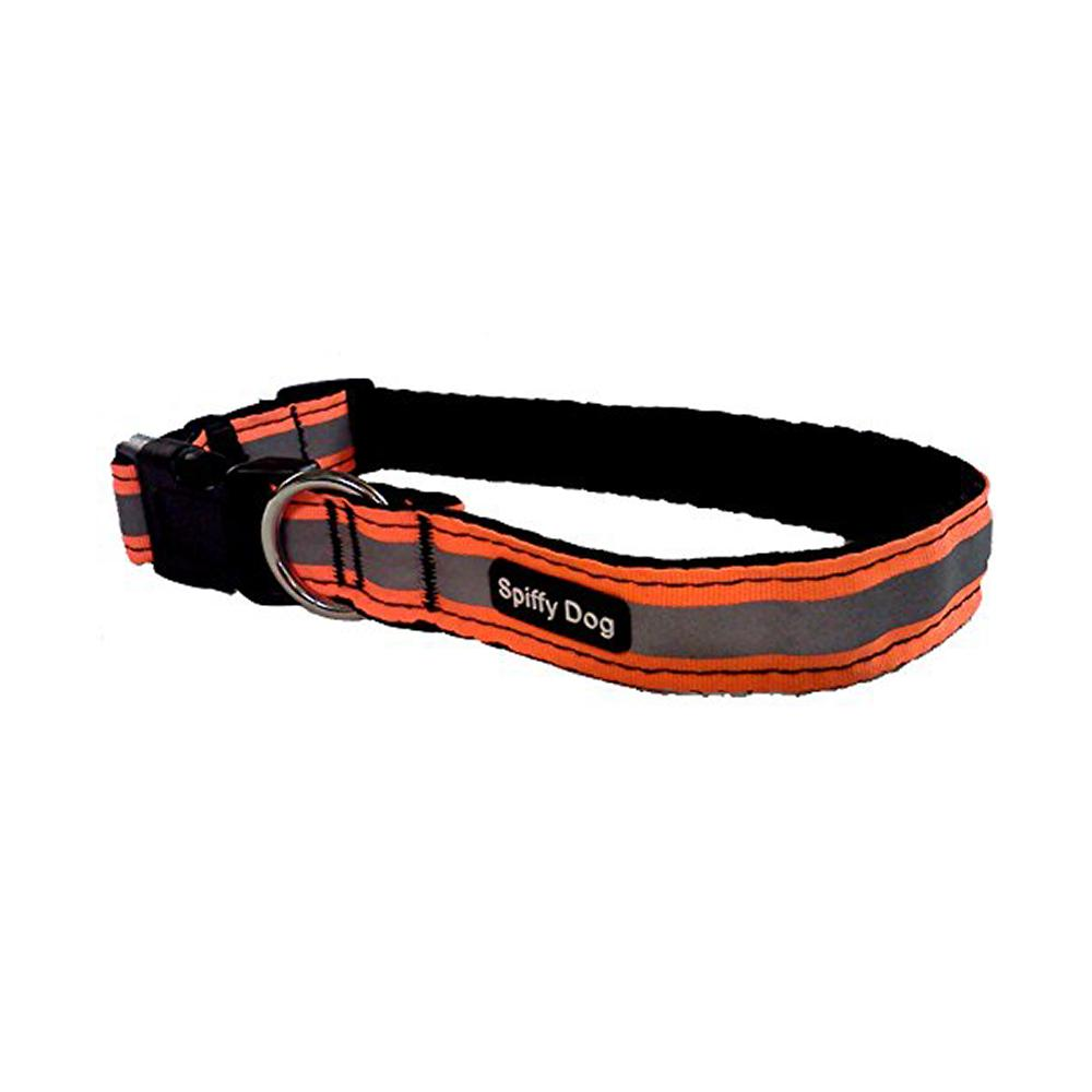 Spiffy Dog Small Orange Reflective Air Collar for Dogs
