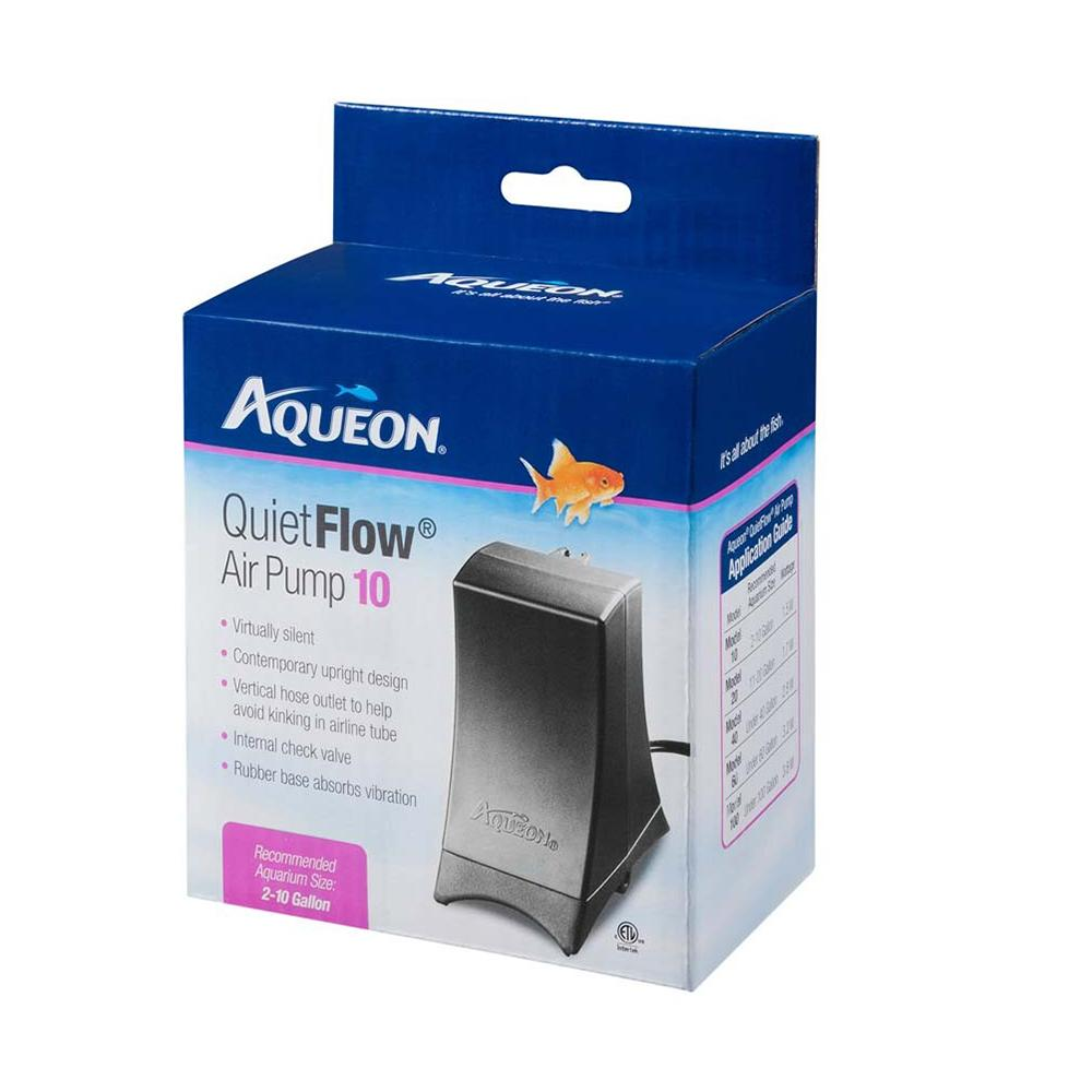 Aqueon Quiet Flow Air Pump 10 for 2 to 10 Gallon Tanks