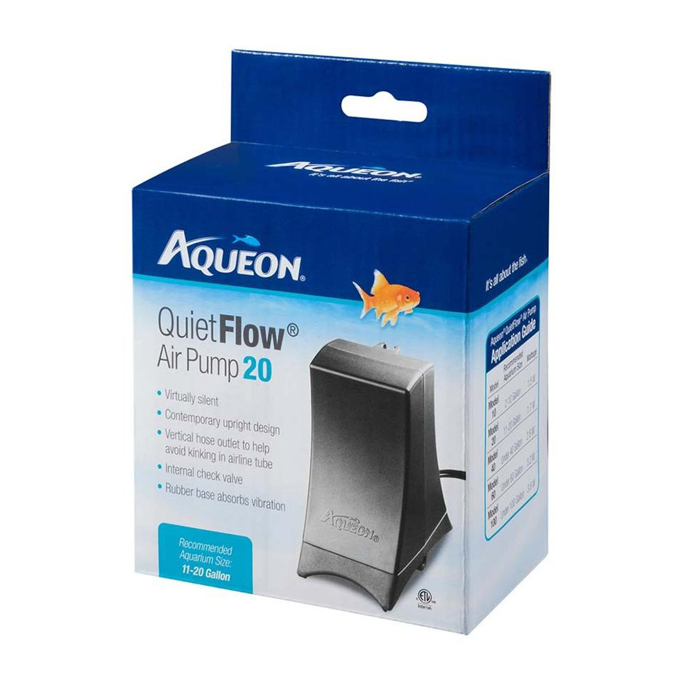 Aqueon Quiet Flow Air Pump 20 for 11 to 20 Gallon Tanks