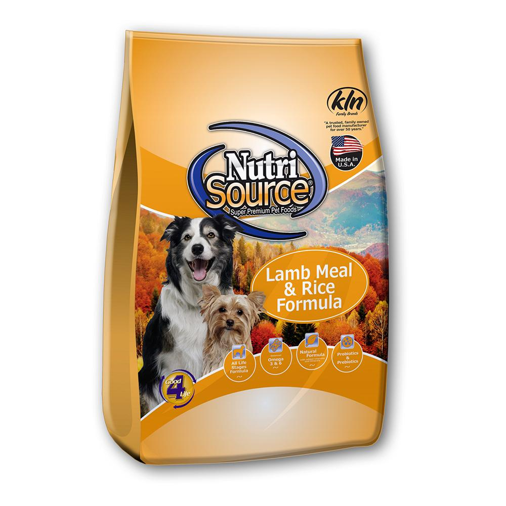 NutriSource Lamb and Rice Dog Food 18lb