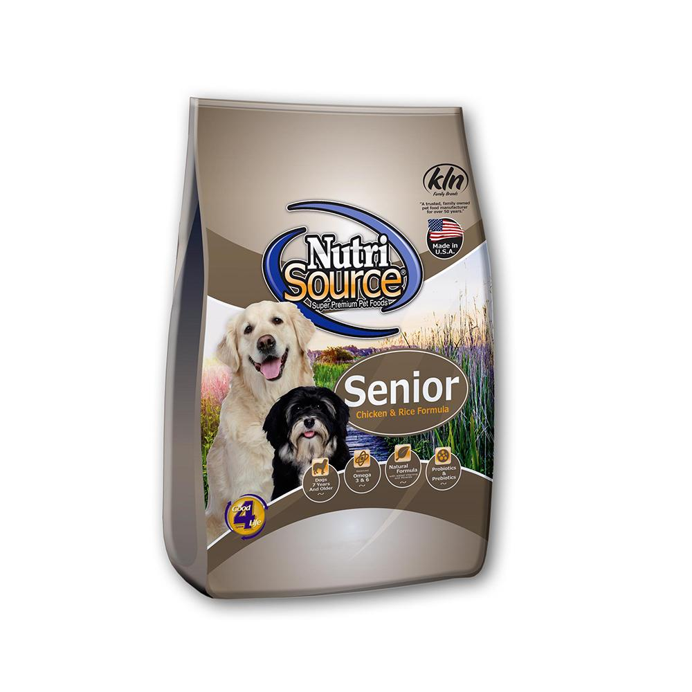 NutriSourceChicken Rice Senior Dog Food 18lb