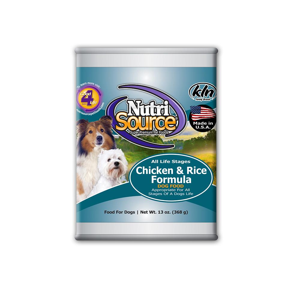 NutriSource All Life Stage Chicken Canned Dog Food 13oz each