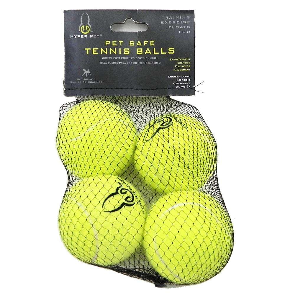 Hyper Pet Green Tennis Ball  Dog Toy 4 pack