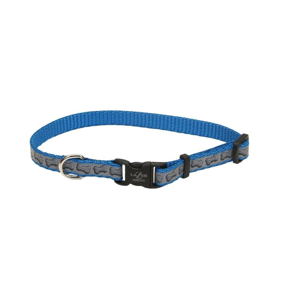 Lazer Brite Bones Small Reflective Dog Collar