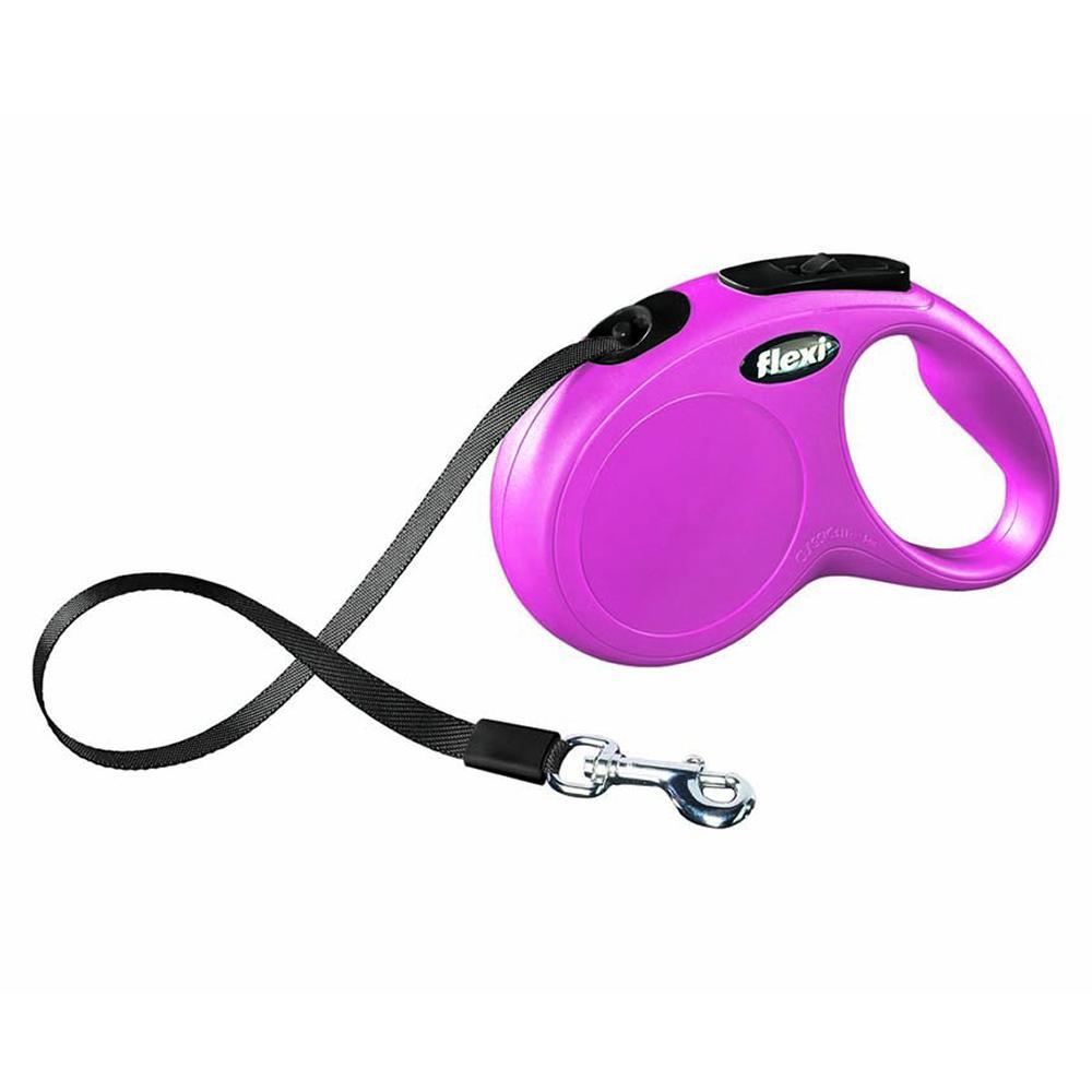 Flexi Medium Small Pink Retractable Tape Dog Leash