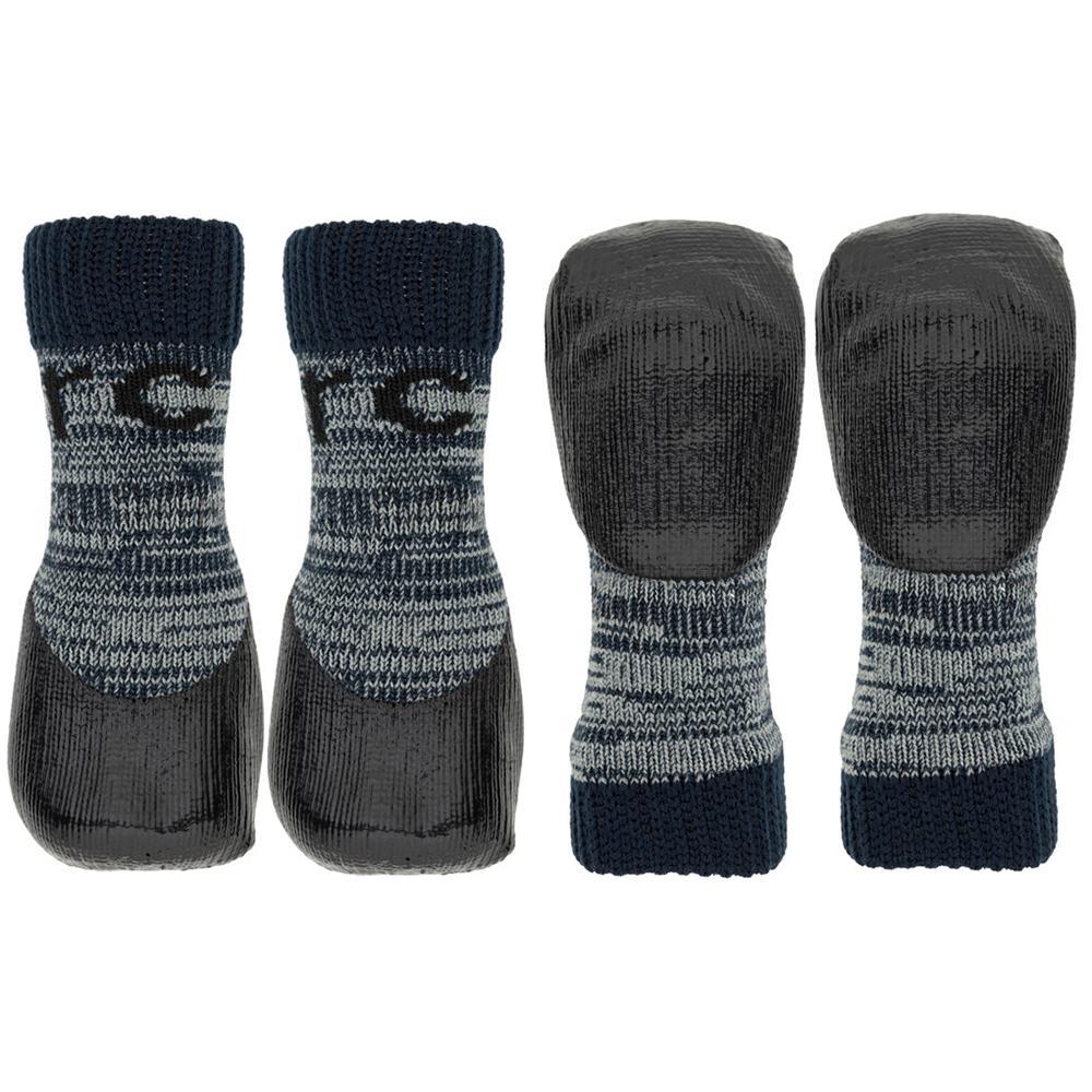 Sport Pawks Anti-Slip Dog Socks XL Grey