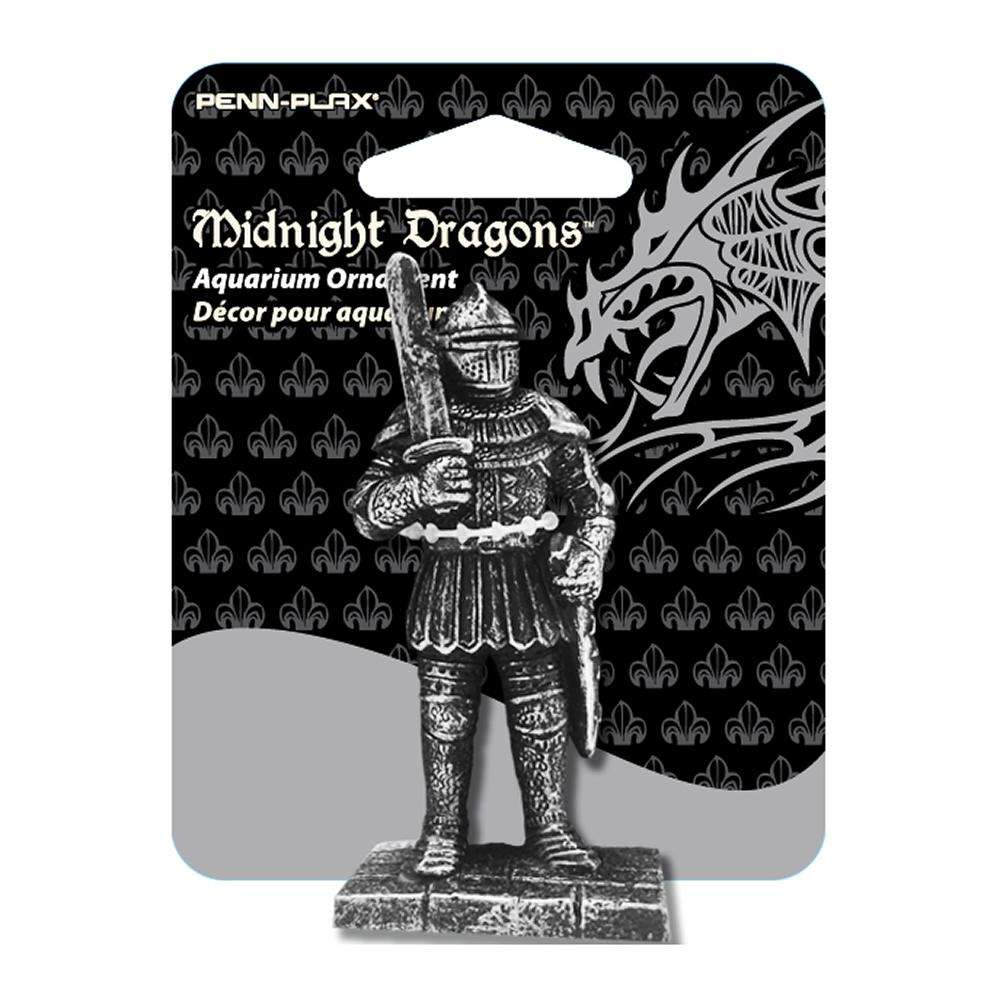 Midnight Dragons Mini Knight Aquarium Ornament