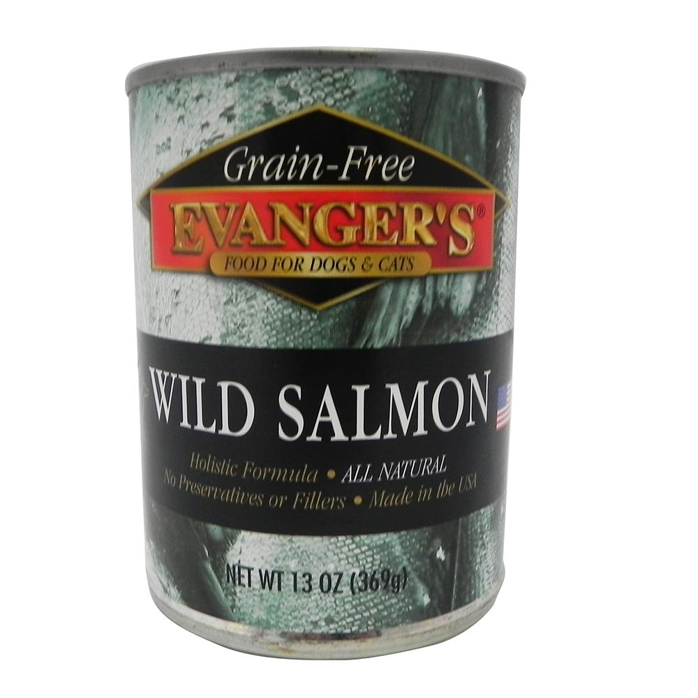 Evangers Salmon Dog Food Single 12oz. Can
