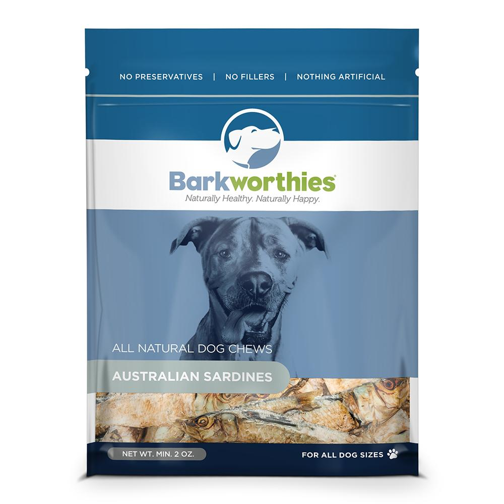 Barkworthies Natural Australian Sardines Dog Treat 2oz