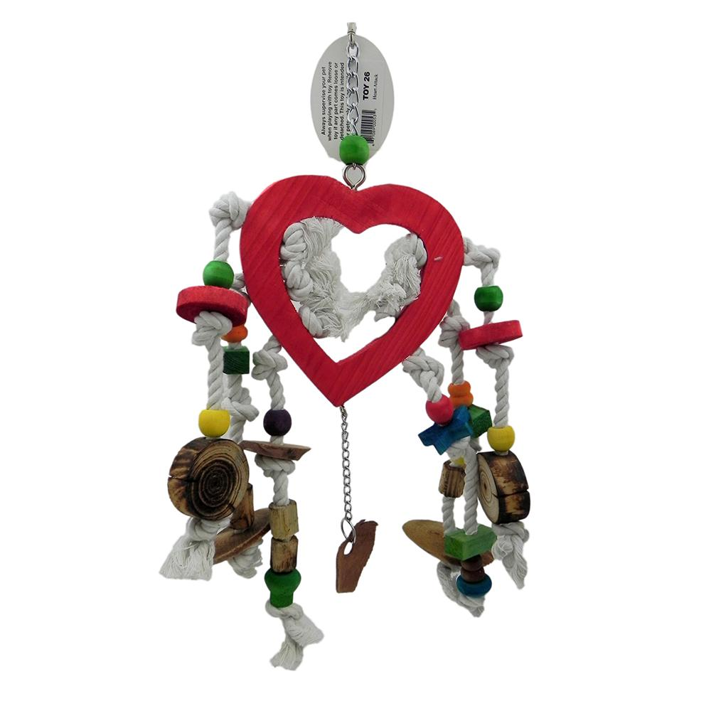 ParroTopia Heart Attack Large Natural Bird Toy