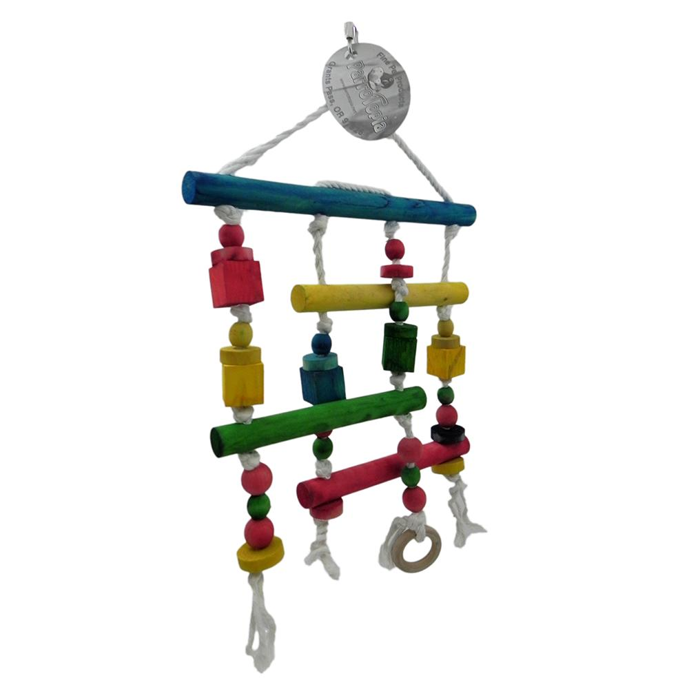 ParroTopia Double Decker Natural Large Bird Toy