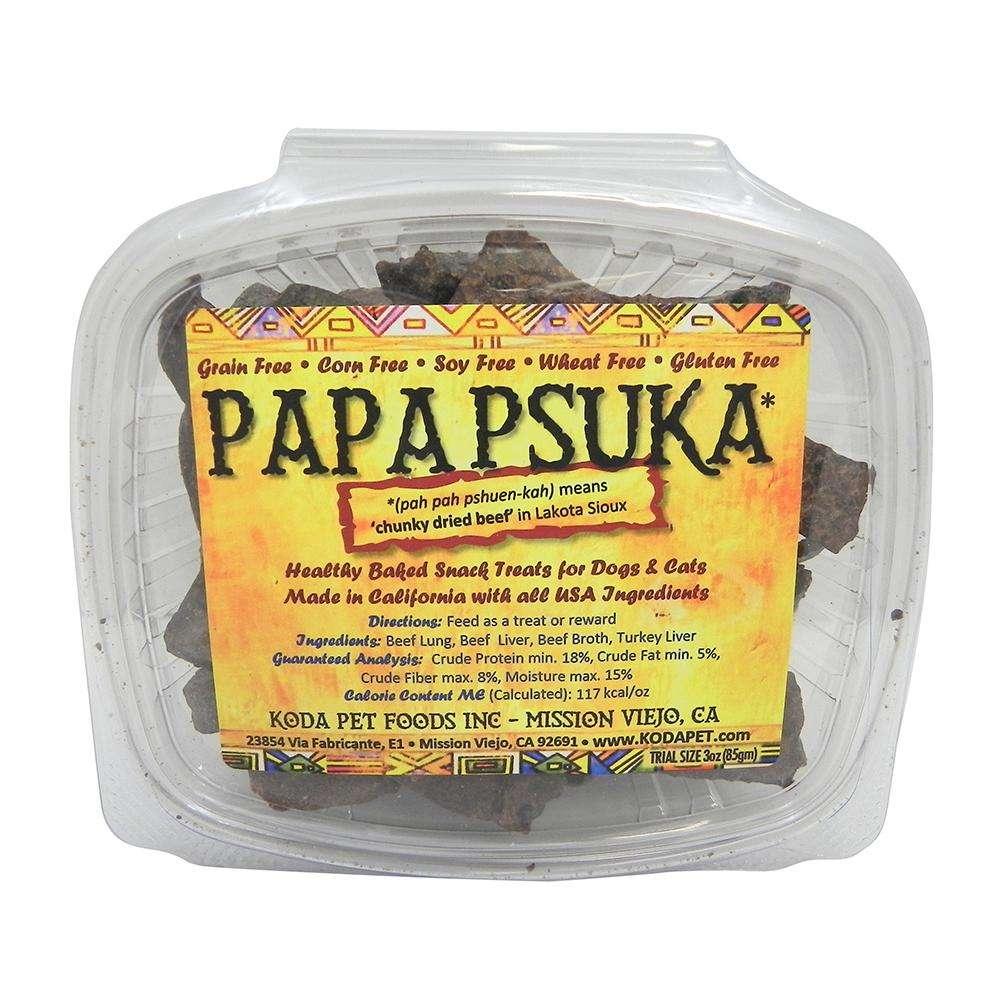 Koda Pet Papa Psuka Natural Beef Dog Treats 3oz