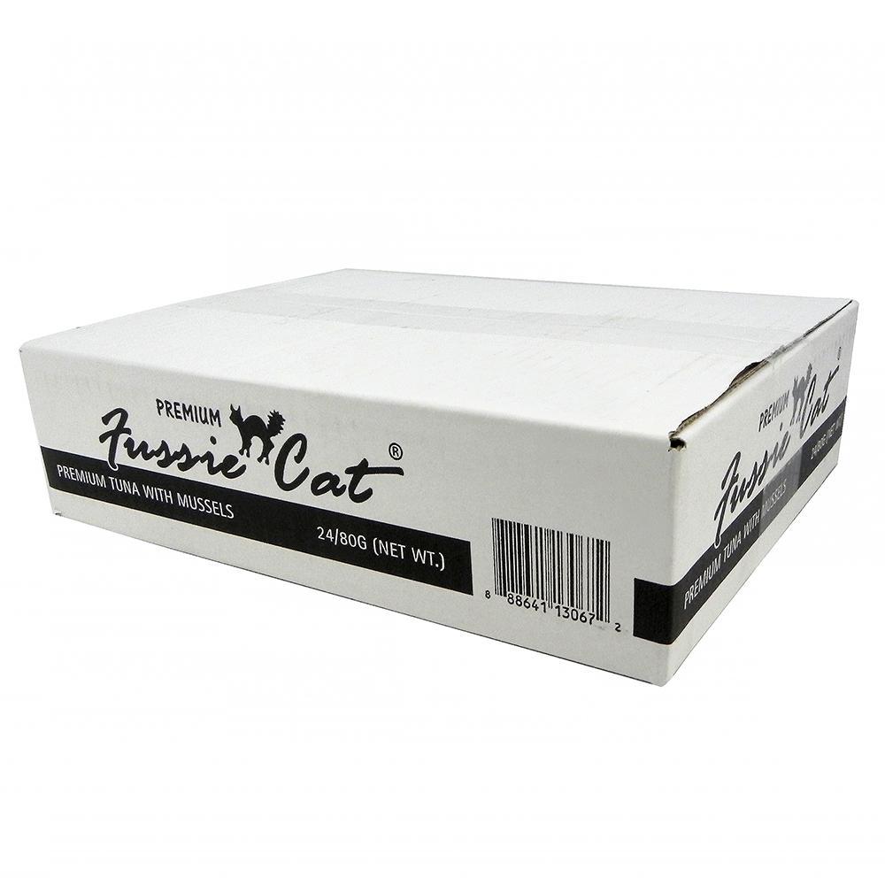 Fussie Cat Tuna Mussel Premium Canned Cat Food 2.8 oz case
