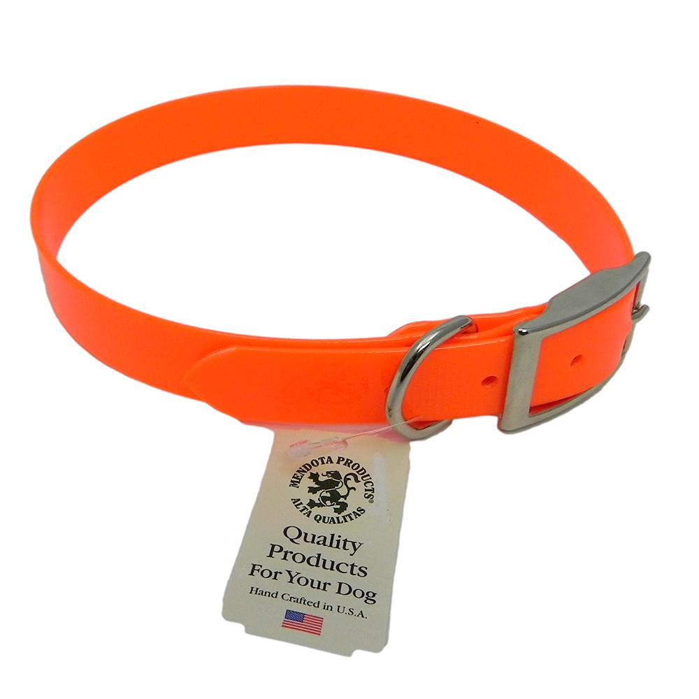 Collar Day Bright Orange Synthetic Leather 16in