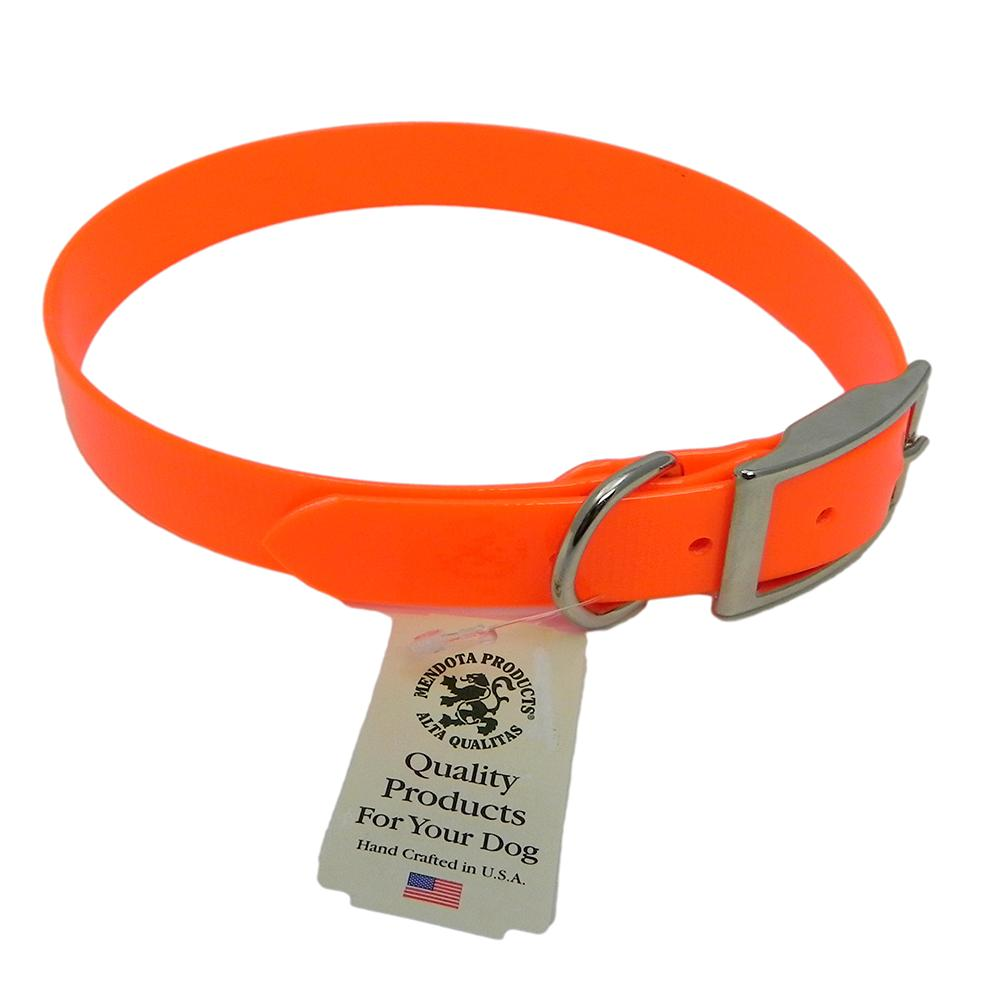 Collar Day Bright Orange Synthetic Leather 20in