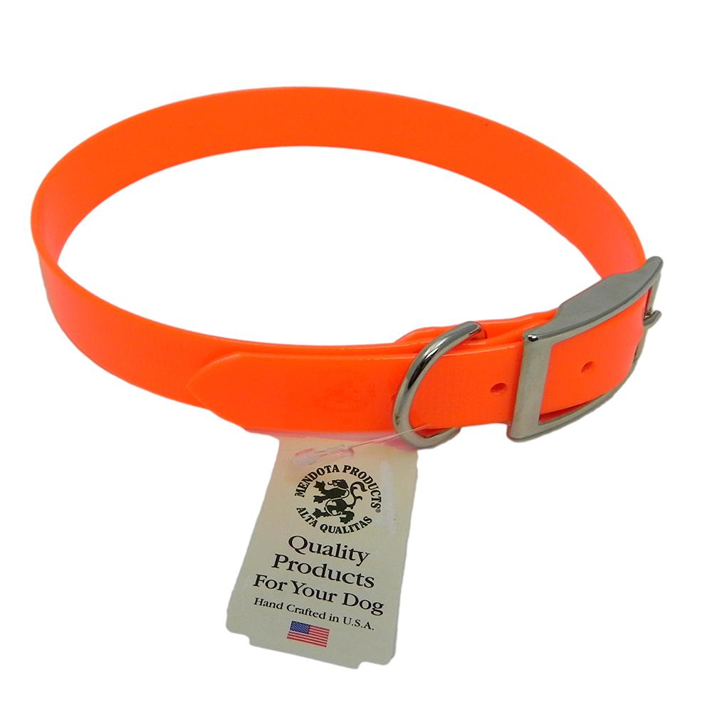 Collar Day Bright Orange Synthetic Leather 24in