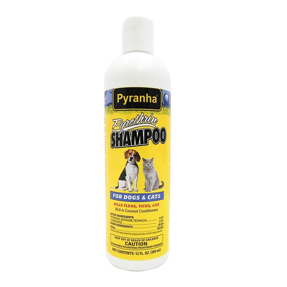 Pyranha Flea, Tick, and Lice Shampoo 12oz.