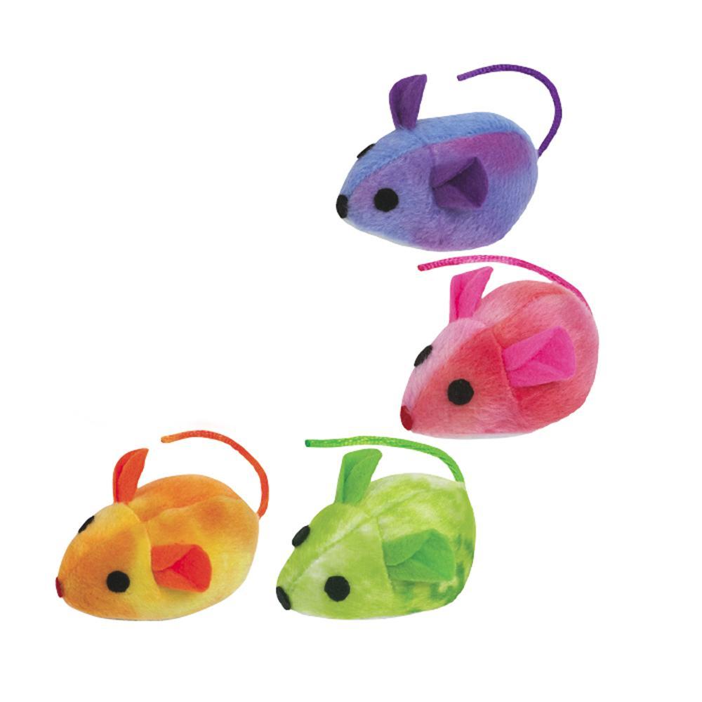 Zanies Tie Die Mouse 10 pack