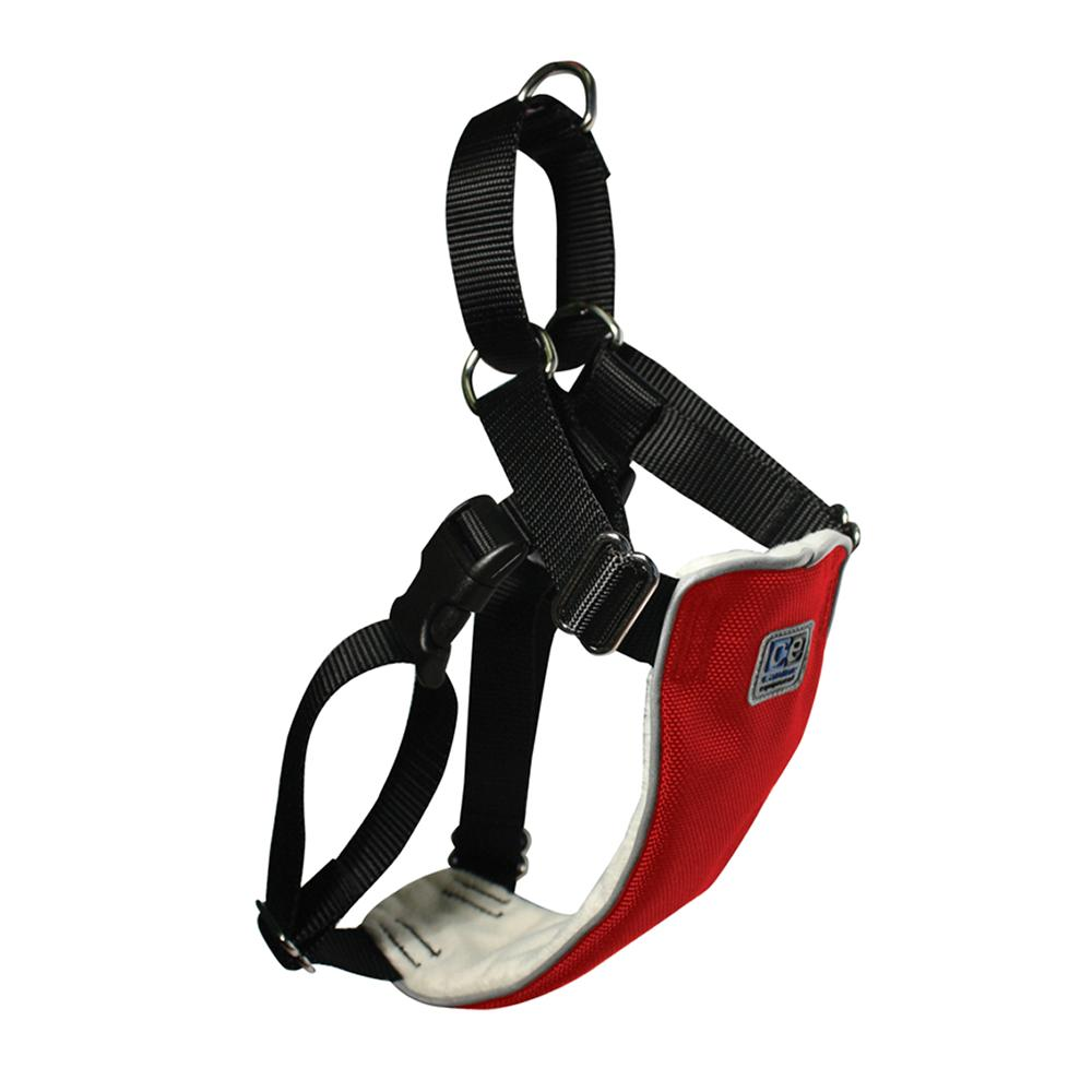 No Pull Martingale Harness Medium Red 22-26-inch