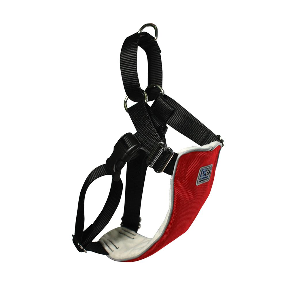 No Pull Martingale Harness Small Red 16-22-inch