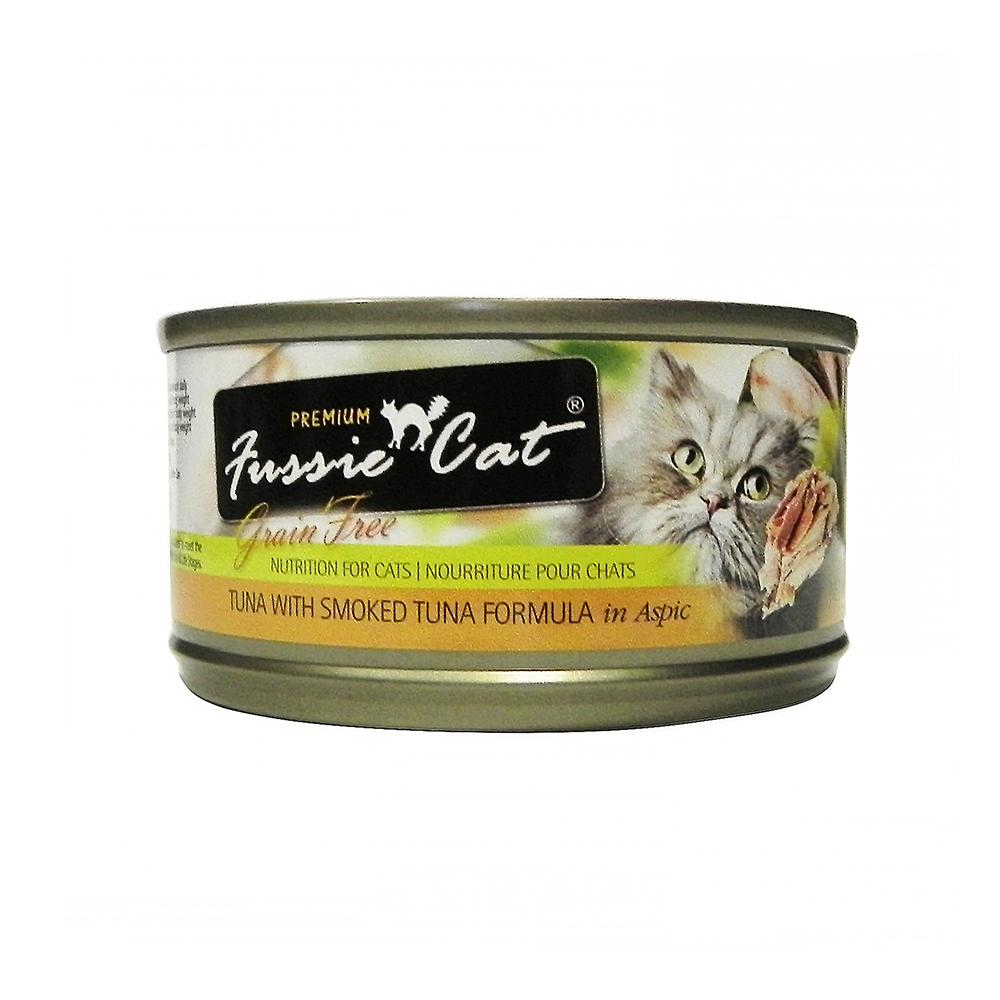 Fussie Cat Smoked Tuna  Premium Canned Cat Food 2.8oz each