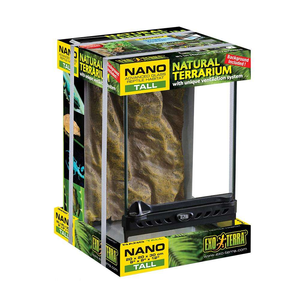 Exo Terra All Nano Tall Glass Terrarium 8x8x12 -inches