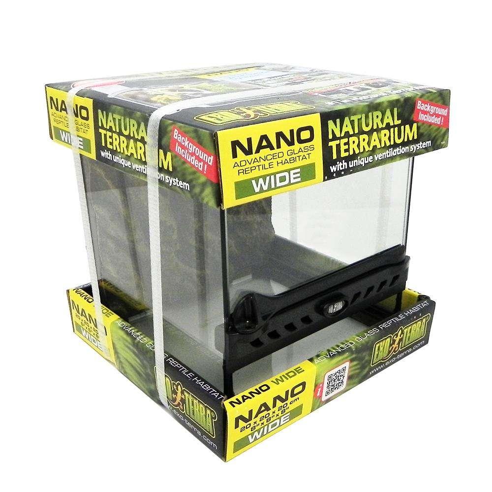 Exo Terra All Nano Glass Terrarium 8x8x8 -inches