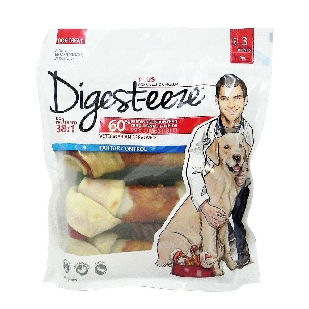 Digest-eeze Beef Pork and Chicken Bone 6 inch 3 pack