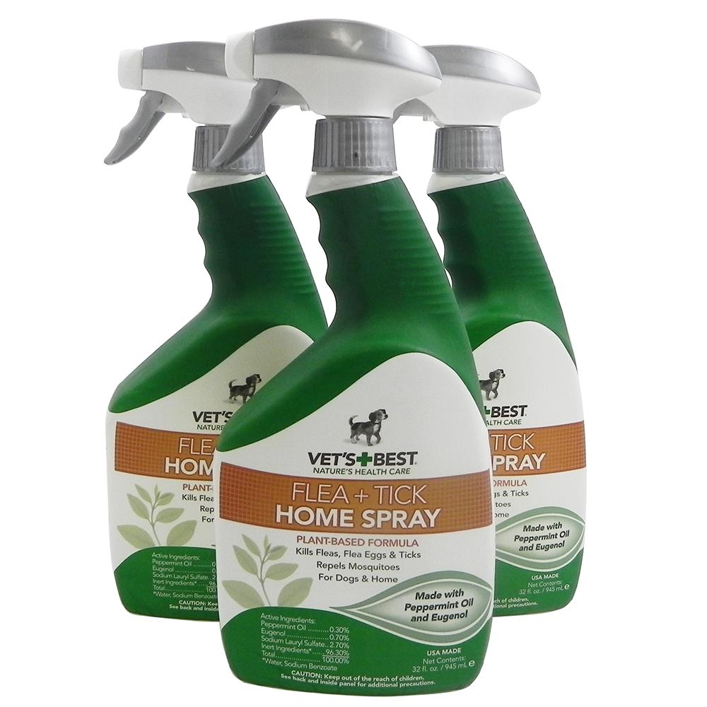 Vets Best Natural Flea and Tick Home Spray 32-oz. 3 Pack