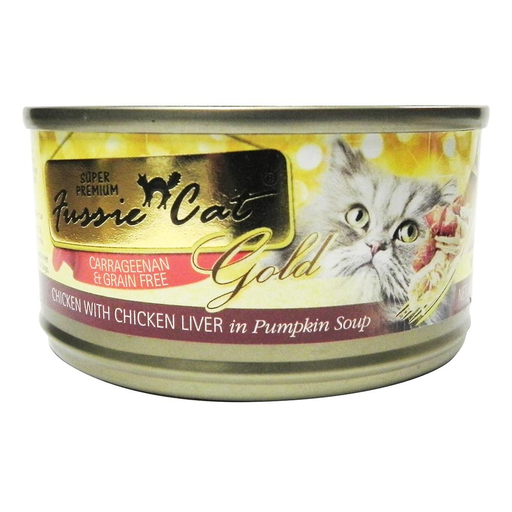 Fussie Cat Chicken&Liver Canned Cat Food 2.8 oz each