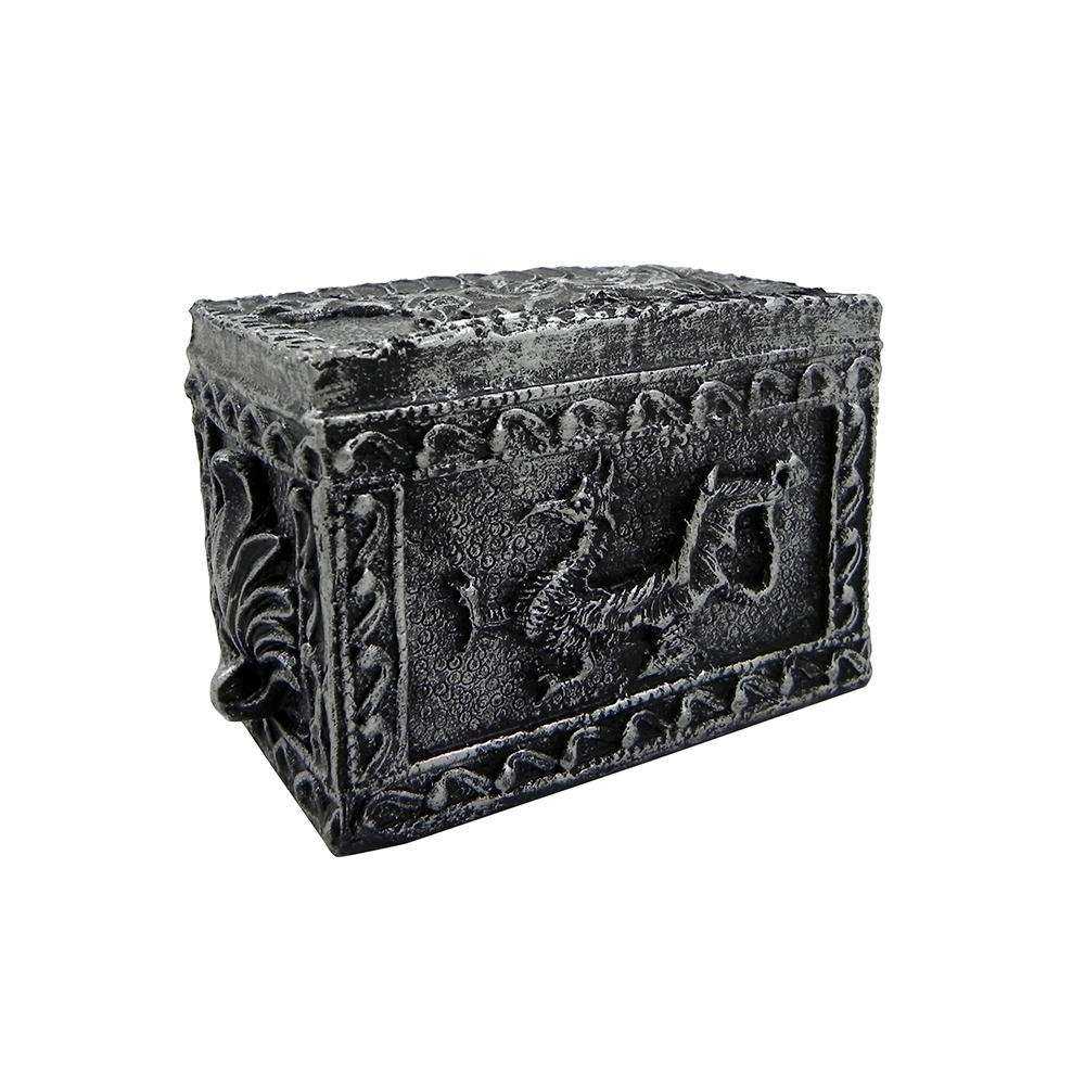 Midnight Dragons Treasure Chest Aquarium Ornament