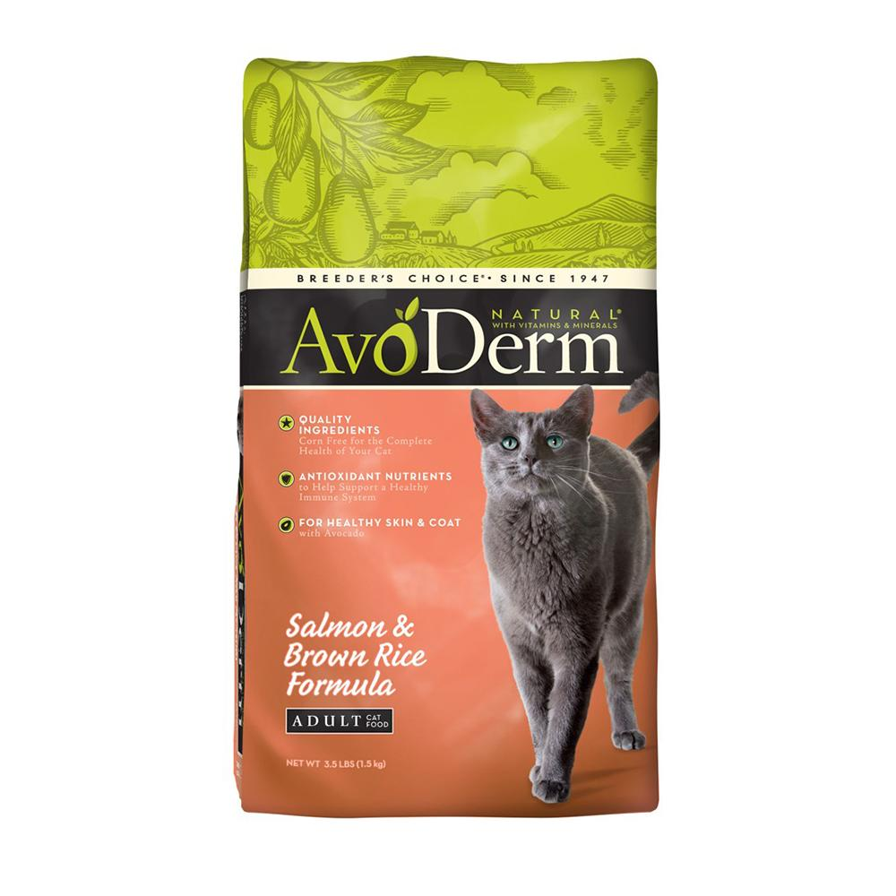 AvoDerm Feline Salmon Brown Rice Cat Food 3.5lb
