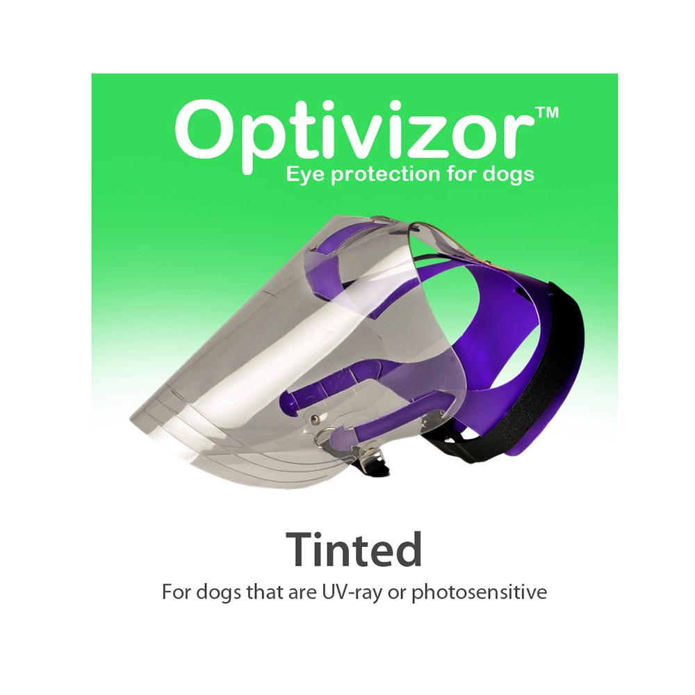Optivizor Tinted U.V. Ray Eye Protection for Dogs XL Size